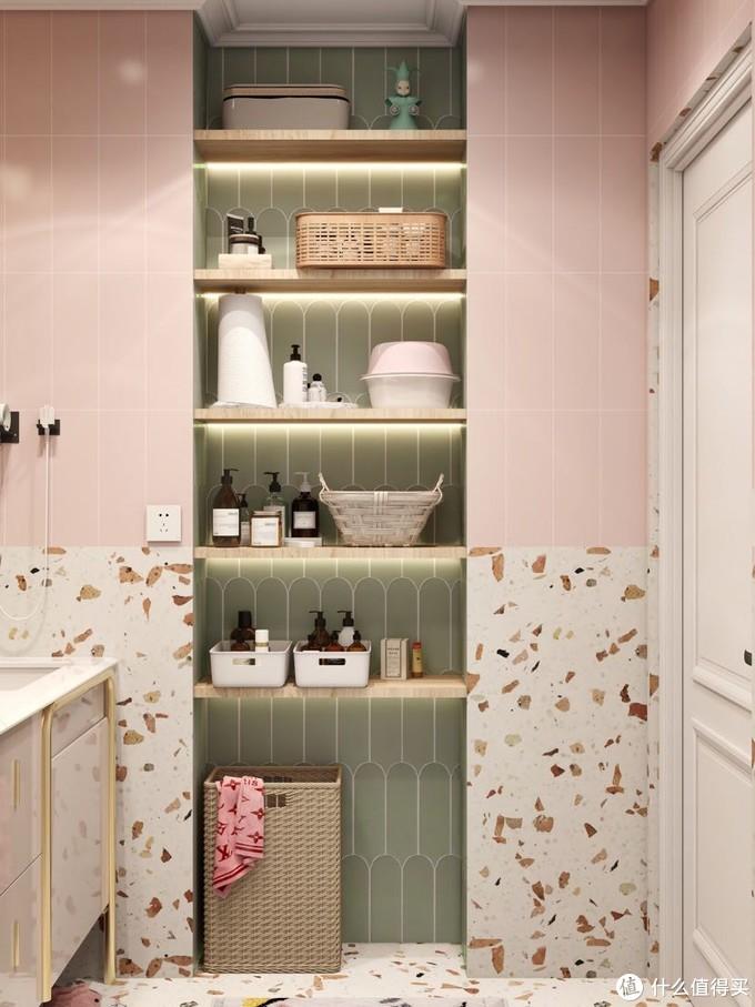 幸福生活离不开智能马桶🚽少女心水磨石浴室