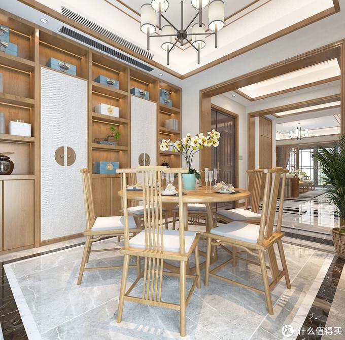 她家150㎡的新中式风格,全屋充满了温馨感,细节处尽显奢华与品位