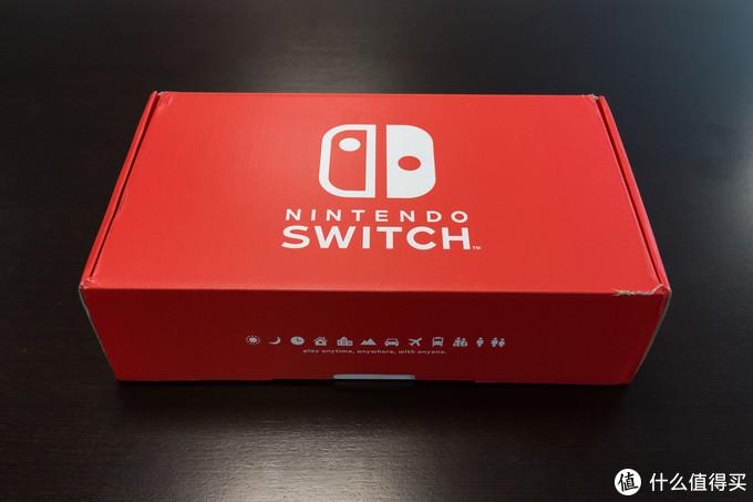 首发官网入手的Switch,包装是特殊的红色