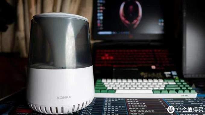 康佳智能空气净化灯颜值性能并存,净化器首选