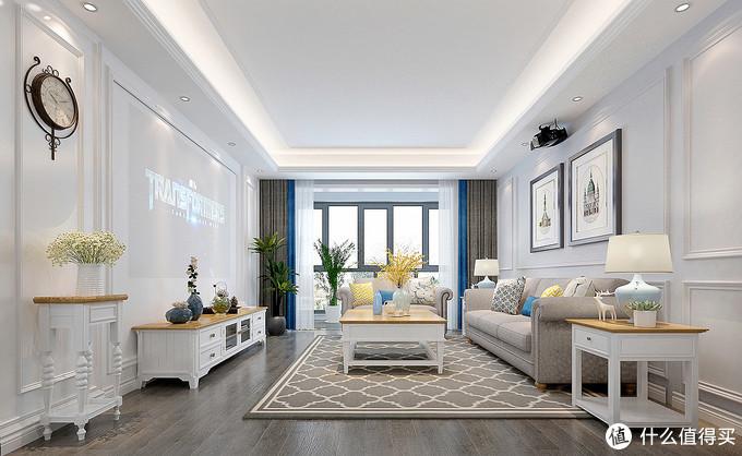 上海单身女性的130㎡美式风,屋内充满了温馨和时尚,是个理想住宅