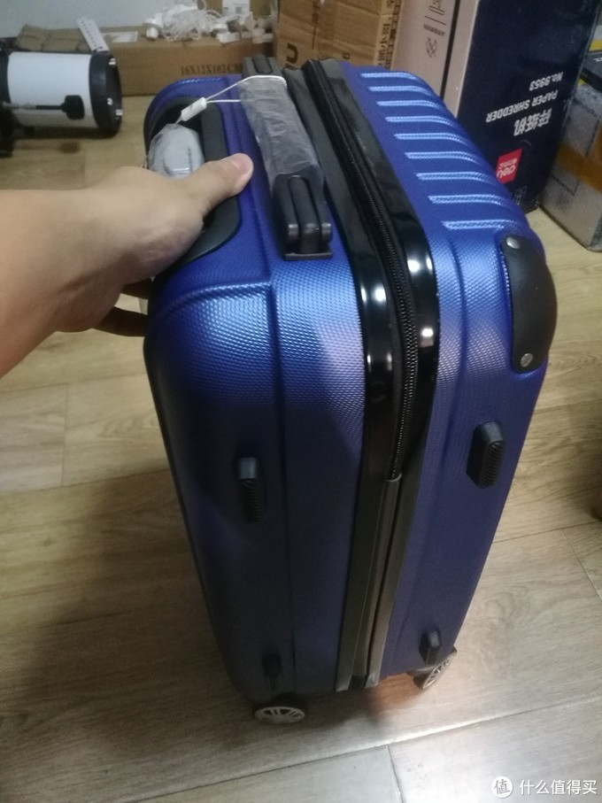 爱登堡F972-1 蓝色 20寸ABS旅行登机箱开箱测评