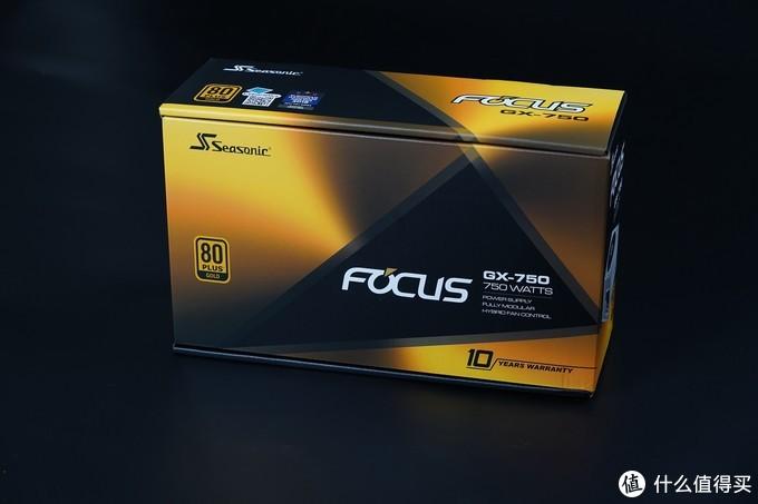 海韵 FOCUS GX750 White限定版电源,采用ATX标准尺寸设计,14cm机身兼容绝大多数机箱。全日系电容,92%的效能转化,10年质保。