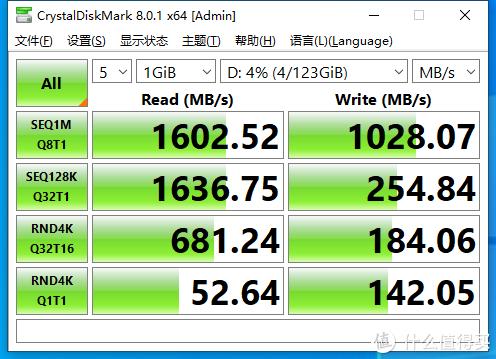 光威这款硬盘表现的还不错,虽然没有官方数据的2000+MB/S,但是效果还是不错。后边又把在大妈家9.9买的散热整上了提升一下散热效果