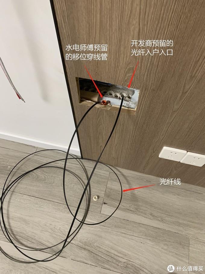 原入户光纤入口处