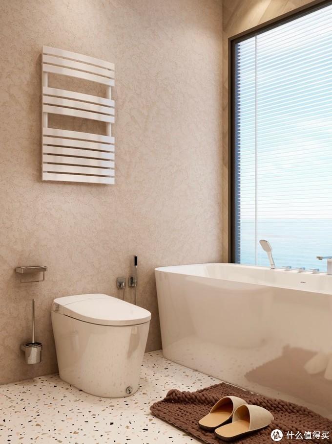 有落地窗能泡澡 还有暖暖的智能马桶