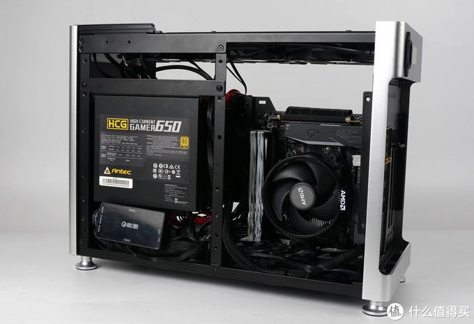 巨能装的乔思伯i100pro 小机箱装机,大显卡大电源360水冷那都不是事