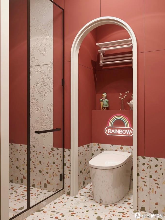 4平复古红mini卫生间 挑选智能马桶看这10点