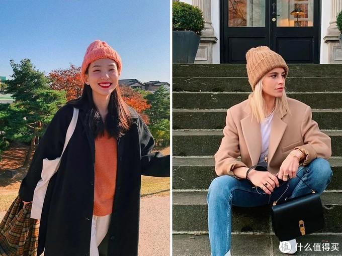 时髦的人有多会穿?看泫雅就知道了,毛线帽搭配出高级感,值得学