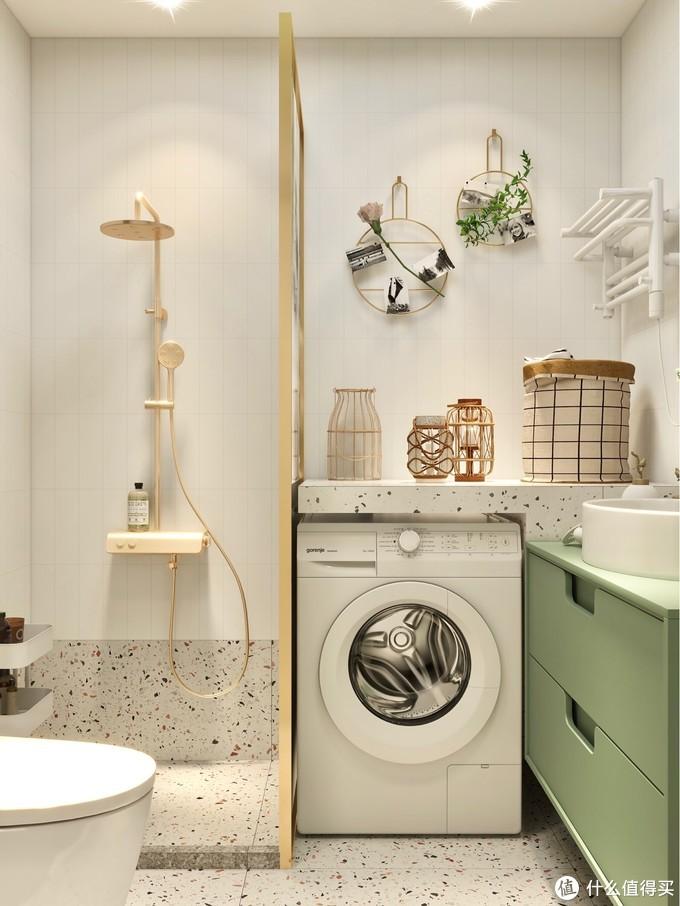 小清新浴室✨布局赞,智能马桶使用感💯️!