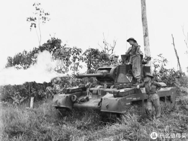 """玛蒂尔达""""青蛙""""(Matilda Frog),澳大利亚改装的喷火坦克,将主炮改为喷火器。"""