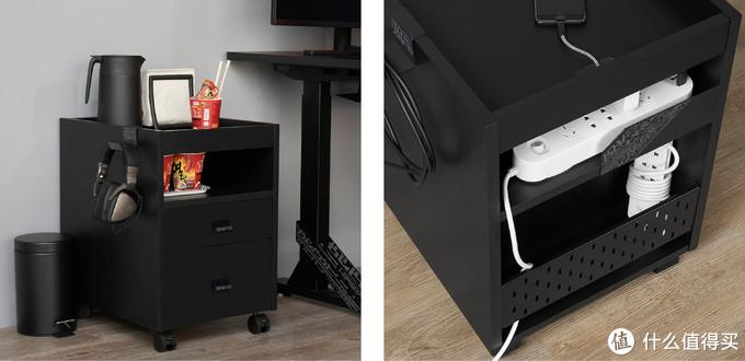 宜家 IKEA 乌浦斯皮抽屉柜带脚轮