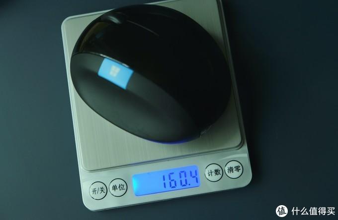 带上电池和接收器,重量达到了160g▲