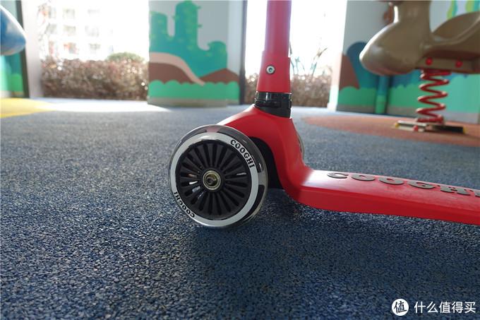 酷骑V1发光滑板车评测:这滑板车孩子很喜欢,回头率百分百!