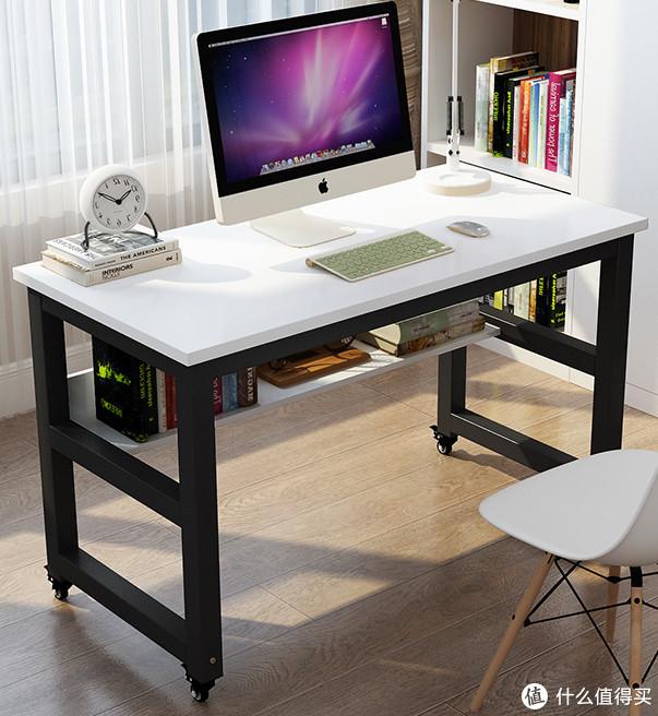 单身狗339元搞定的可推动的4轮餐桌+电脑桌(书桌?!)