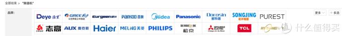 京东除湿机品牌默认列表