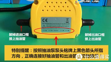抽油泵流向标识
