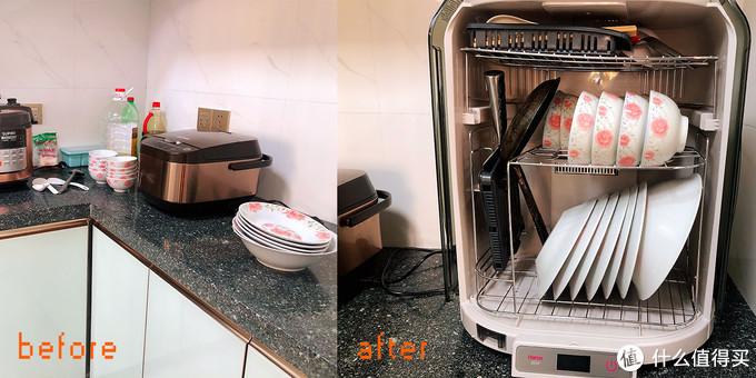 可以给碗筷消毒烘干收纳的「超级柜」,满足三五口之家用的韩加餐具消毒柜