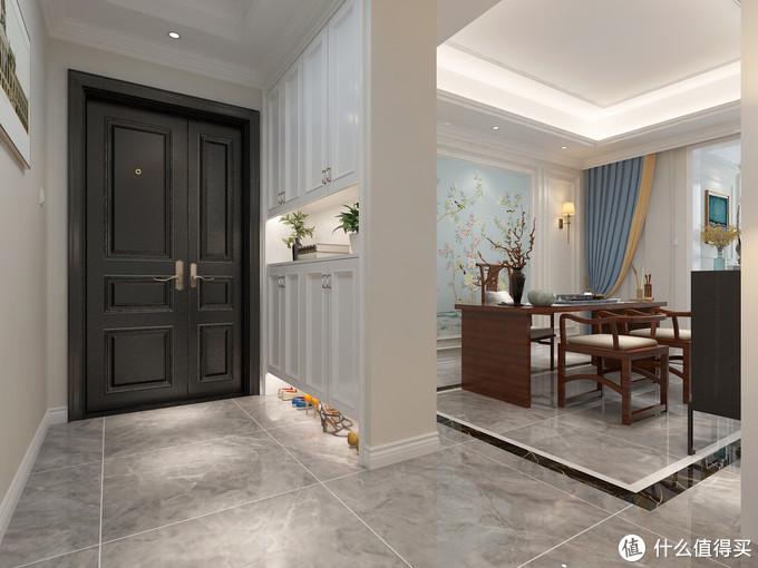入户就很惊艳的简美风格装修,仅有130㎡,也可以装修很好看又实用