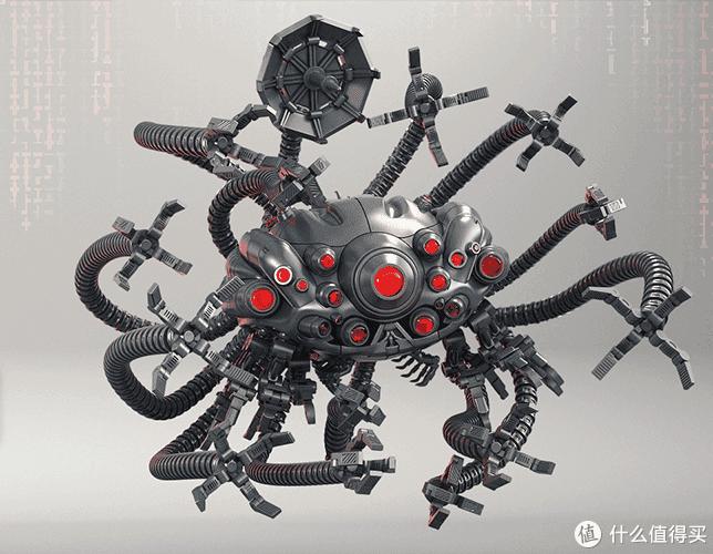 超大比例乐高积木版黑客帝国中的电子章鱼