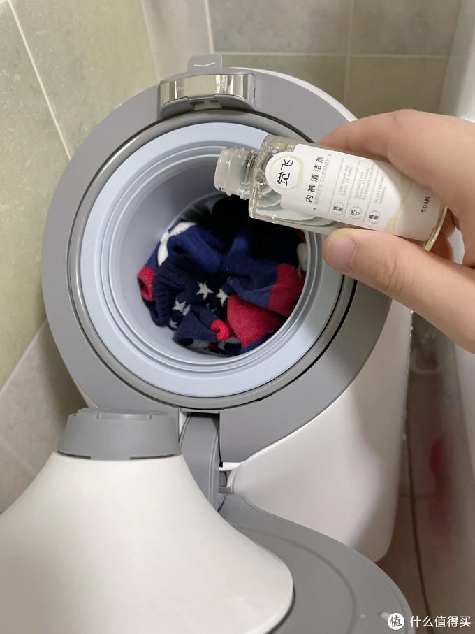让全家内衣袜子清洗更加智能健康—Joyface觉飞心愿仿手微洗机
