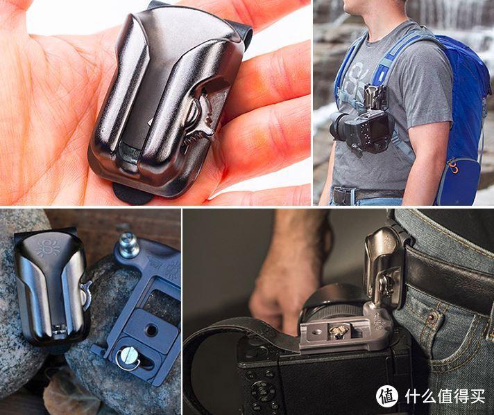 可安装在腰间,也可安装于背包肩带上