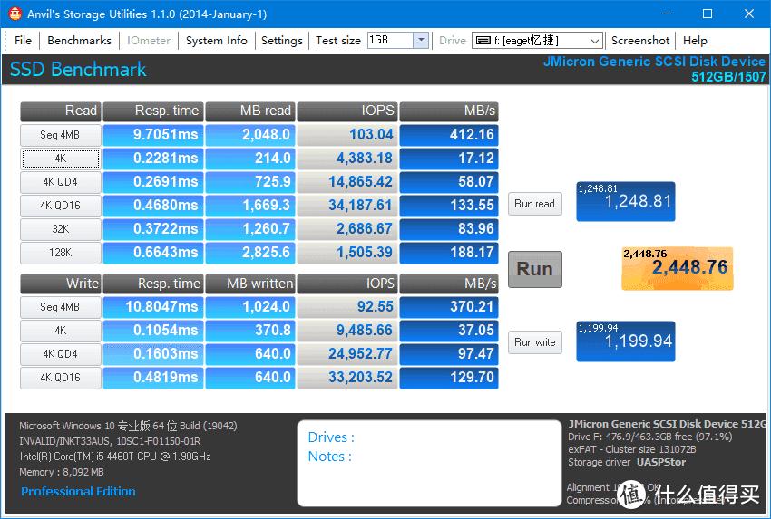 忆捷(EAGET)M1 Type-c USB3.1 PSSD 512GB使用体验