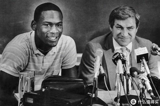 1984年9月乔丹签约芝加哥公牛队的发布会现场