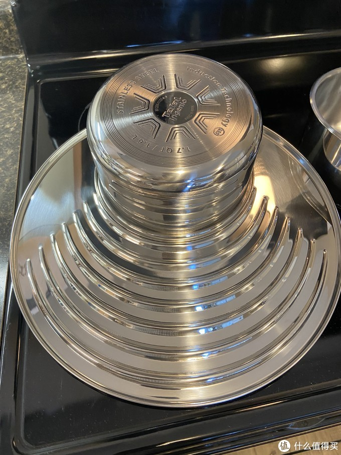 不同压痕对应不同尺寸锅,16cm到30cm