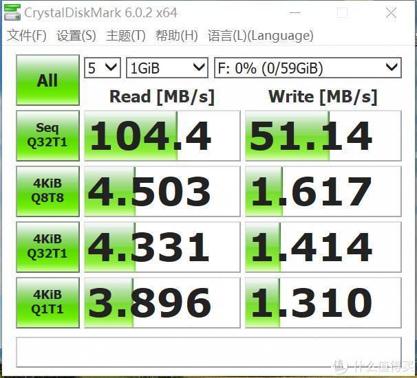 diskmark速度测试