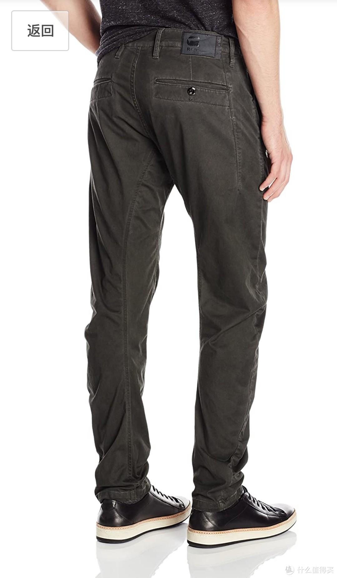版型超正的G-STAR RAW Bronson 3d Slim 卡其裤