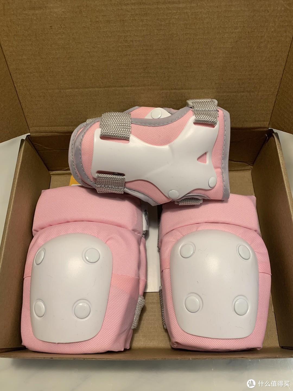 拆开护具,共有护膝,护肘和护手。