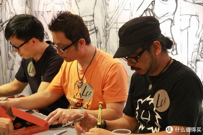 铁人兄弟十周年展上的铁人三子 Kenny Wong、Winson Ma、William Tsang (图片来自网络)