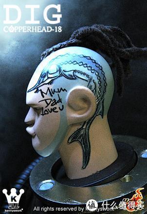 第二款Dark头雕上的纹身很赞(图片来自网络)
