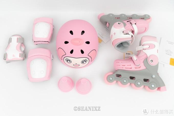 问:如何一天教会三岁孩子滑轮滑?答:换双专业的儿童轮滑鞋——柒小佰 小怪兽儿童轮滑鞋套装