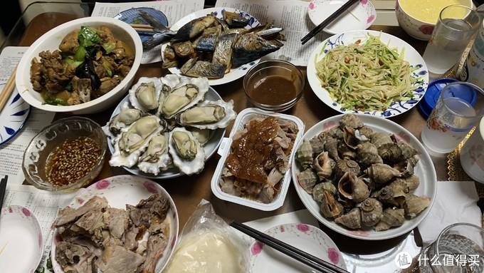 图10 蚝、螺、鲅鱼、炒鸡