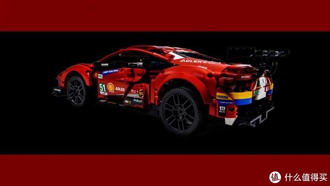 """今年乐高科技车模,就选它了:42125 法拉利 488 GTE """"AF Corse #51"""""""