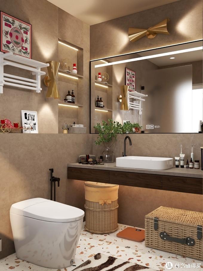 质感满满的小浴室:电热毛巾架要装吗?