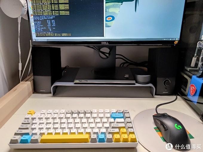 键盘放到电脑前还是很和谐的