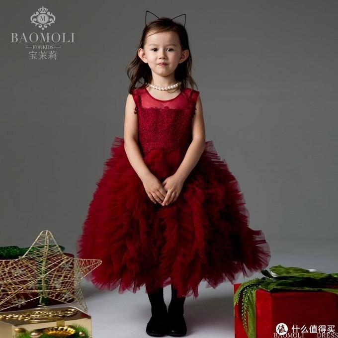 宝茉莉儿童礼服伴娘公主裙蛋糕裙表演服钢琴演出服宴会礼服