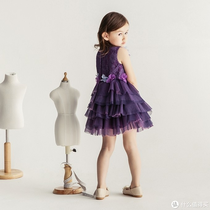 宝茉莉儿童礼服蓬蓬蛋糕裙表演服公主裙生日礼服女童主持人晚礼服