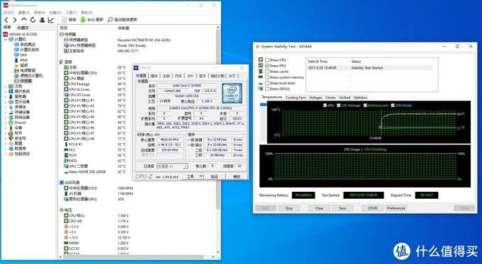 1.15V 4.6G下AIDA64 FPU负载10分钟83度