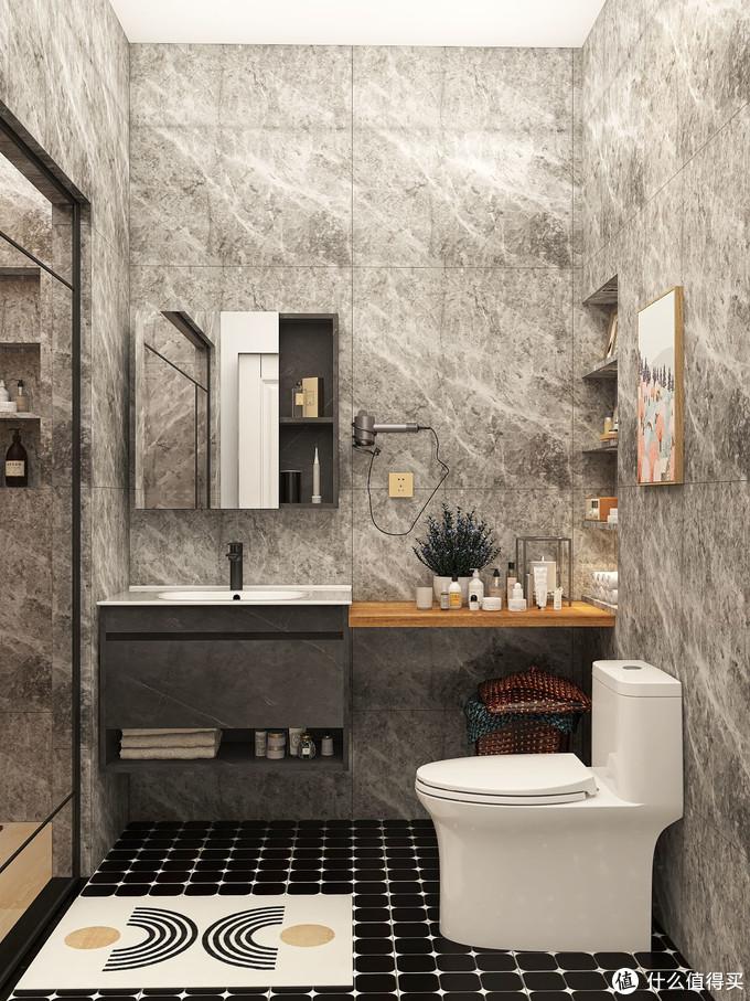 卫浴好物|高级灰浴室柜超有格调