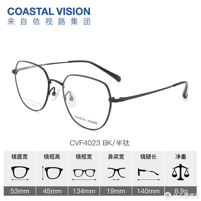 眼镜尺寸数据