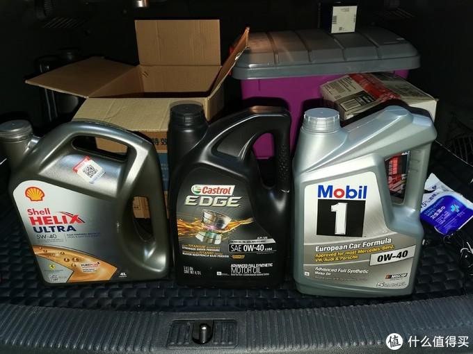 行李箱里一起带过来的机油,正好三大品牌都齐了,修理厂朋友很酸的说我是机油贩子
