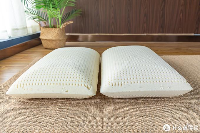 荷兰的乳胶面包枕软硬度对比展示