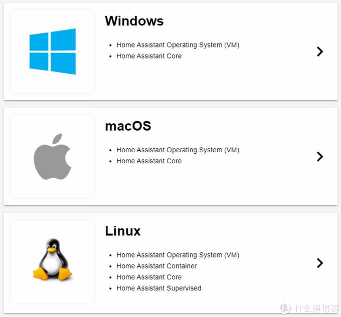 不同平台Home Assistant安装方式不同
