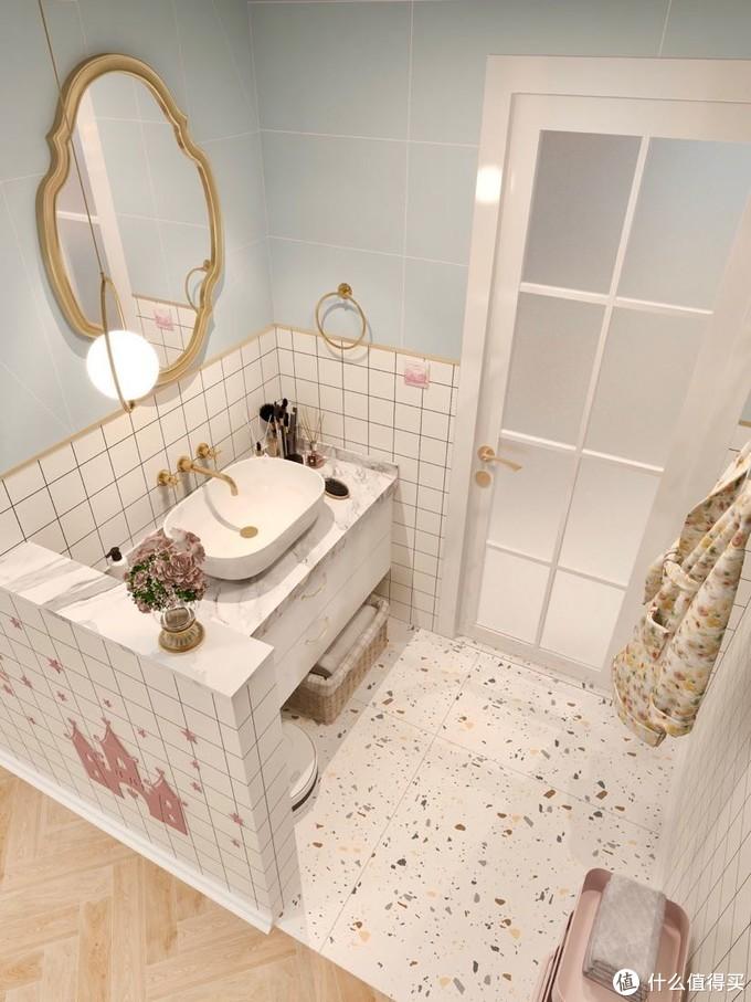 小清新卫生间|能泡澡能淋浴还有干湿分离
