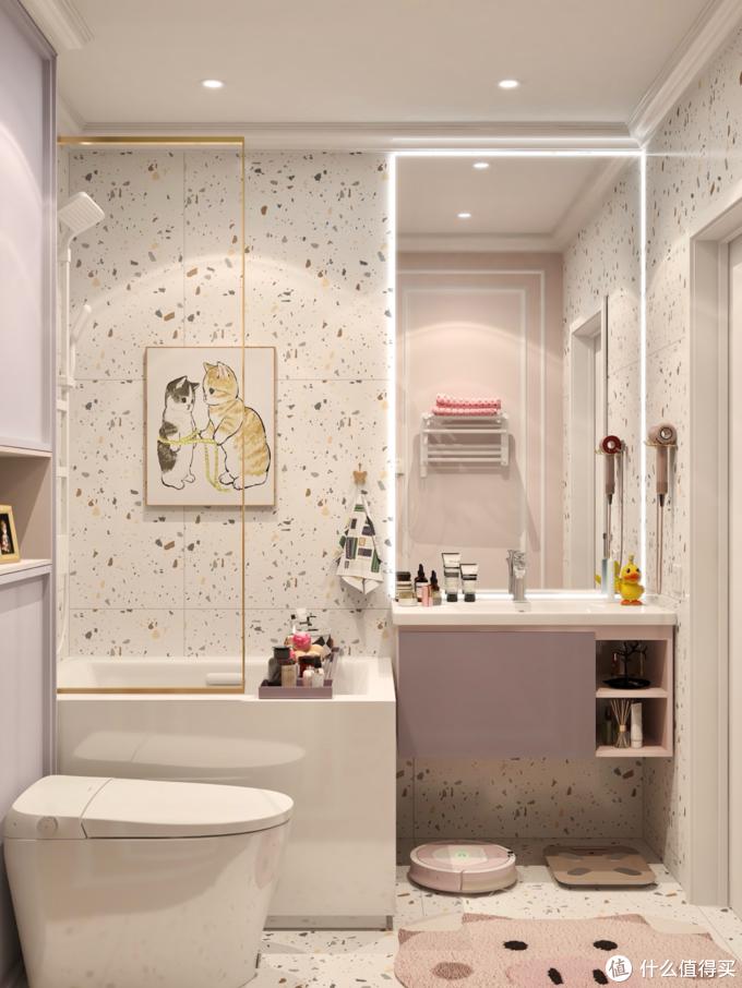 五脏俱全的温馨mini小浴室✨智能马桶爱了