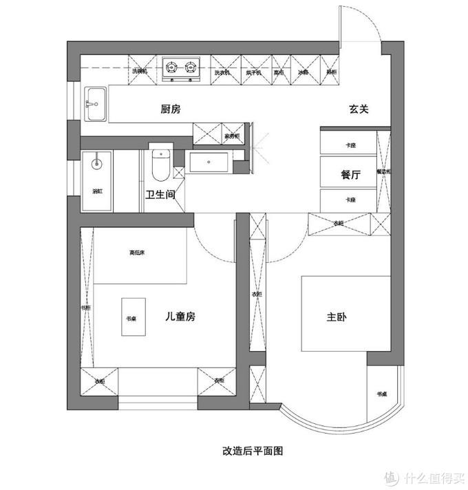 上海一家三口的57平小家,无客厅却做到了极致收纳,实用又高级